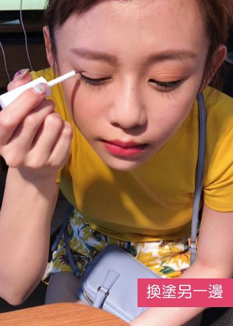 ★防水防汗配方。可根據個人需求,製作出可撐起眼皮的薄膜,乾掉後屬於單面透明的膜,不拉扯眼皮,極致隱形,打造自然雙眼皮,也可眼影後使用喔!