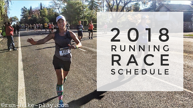 2018 Running Race Schedule