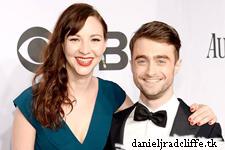 Daniel Radcliffe and Erin Darke at the Tony Awards