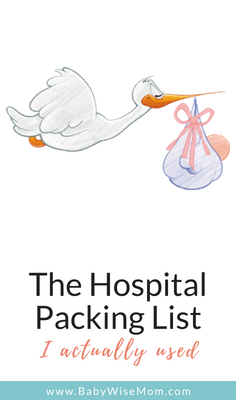 Hospital Packing List for mom, baby, and dad