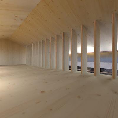 sottotetto di abitazione in legno