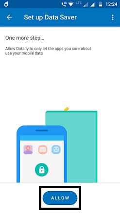 Set up data saver