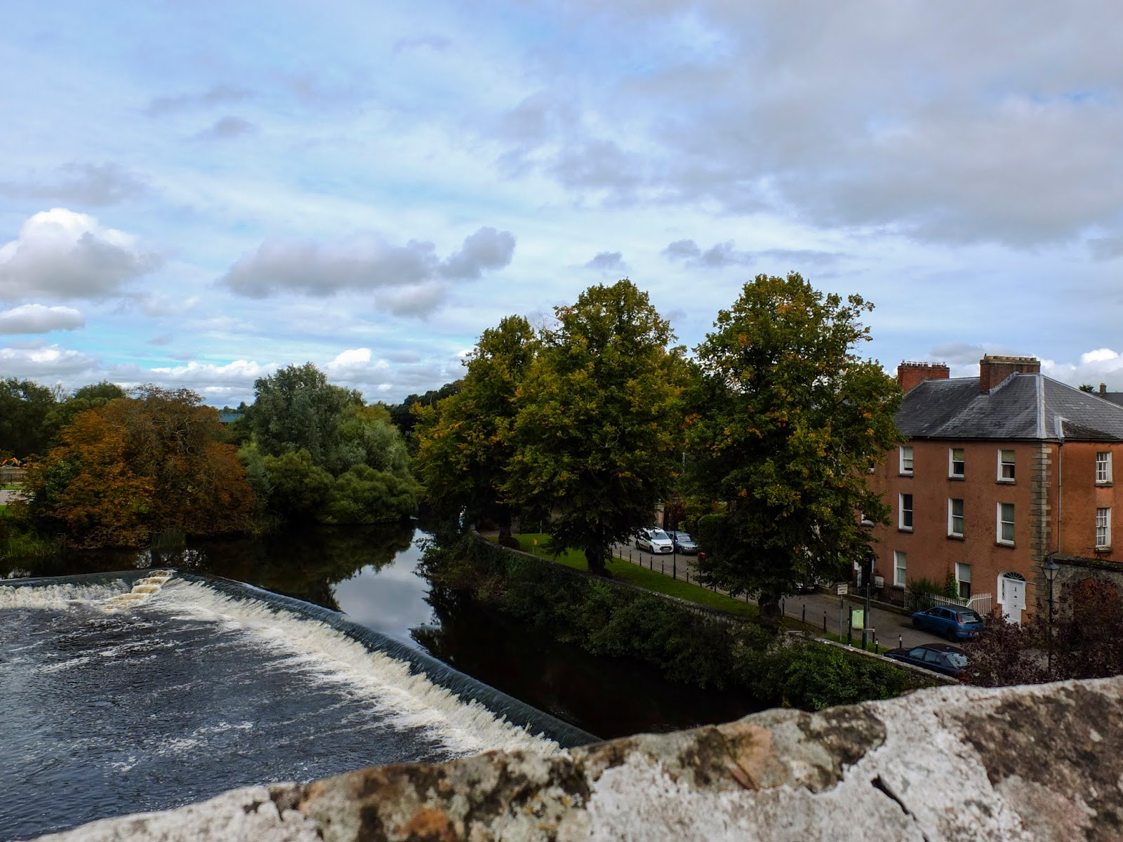 View of a weir from the Cahir Castle in Co.Tipperary.