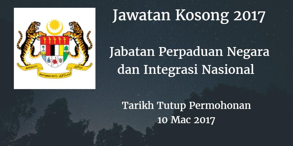 Jawatan Kosong JPNIN 10 Mac 2017