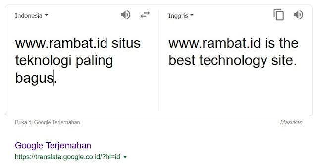 Situs Penerjemah Bahasa Terbaik & Akurat - Google Translate