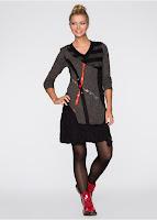 Rochie tricotată cu design deosebit (bonprix)