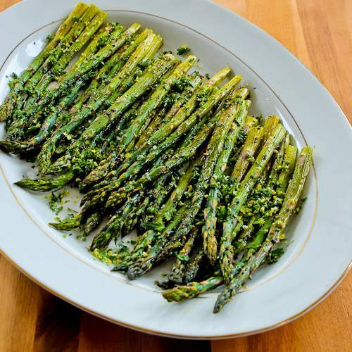 Roasted Asparagus with Gremolata found on KalynsKitchen.com