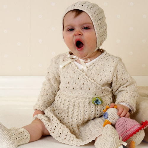 Dress for Baby Girls with Lace Pattern