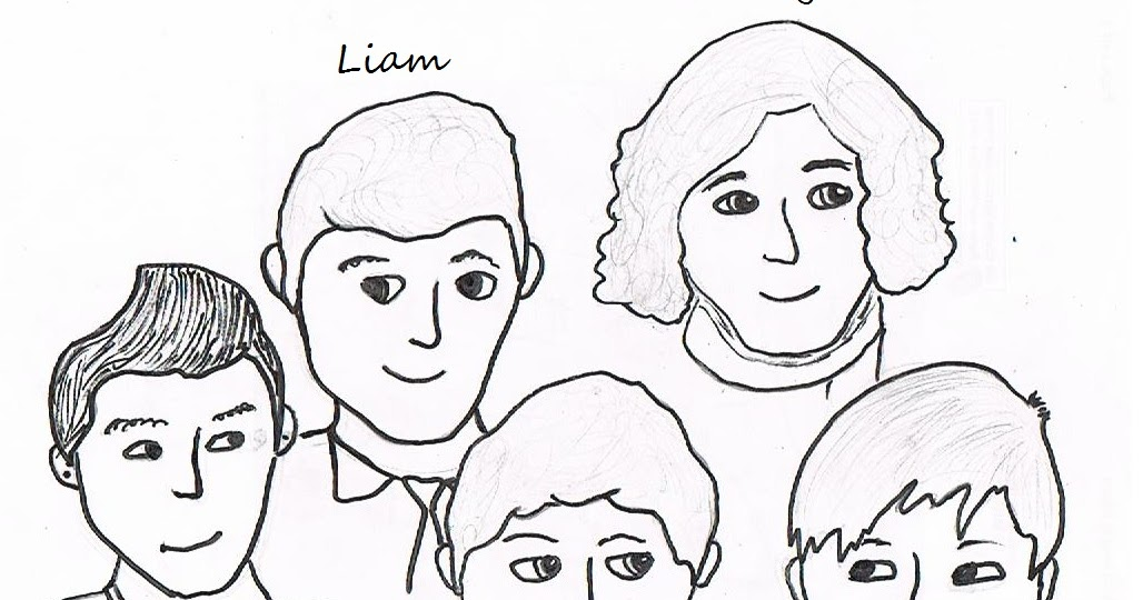 One Direction Printing Coloring Pages
