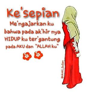 kartun gambar wanita muslimah