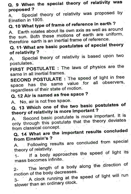 2nd Year Physics Dawn of Modern Physics
