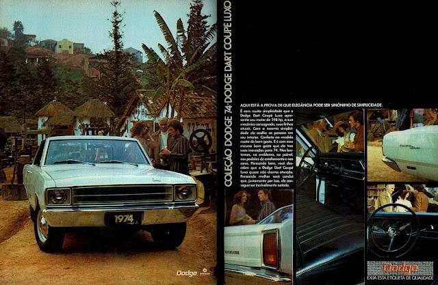 propaganda Chrysler Dodge Dart Coupê Luxo 74 - 1973