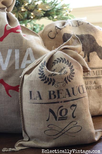 grain sack santa bags