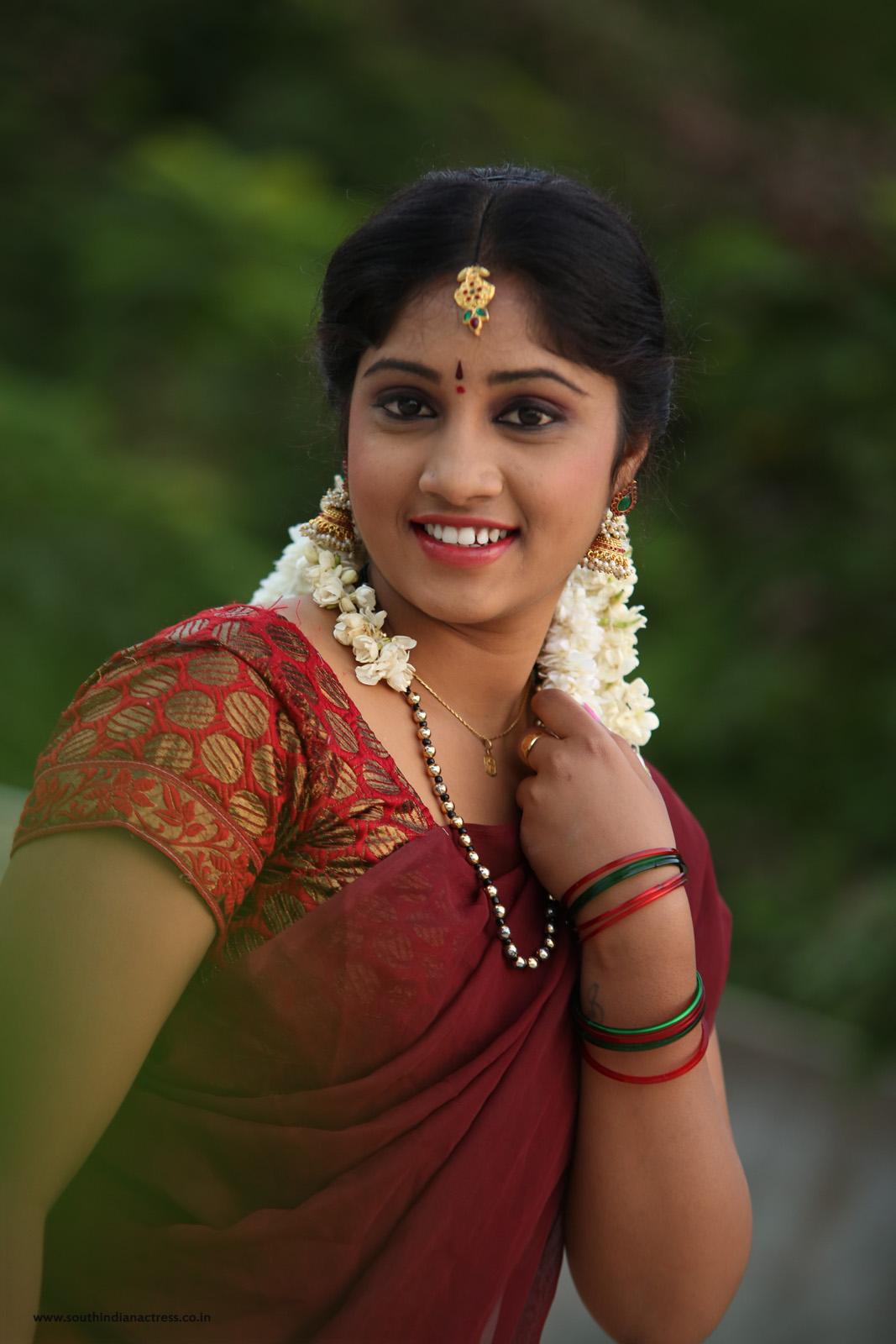 Telugu Actress Gagana In Half Saree Photos - South Indian -9820
