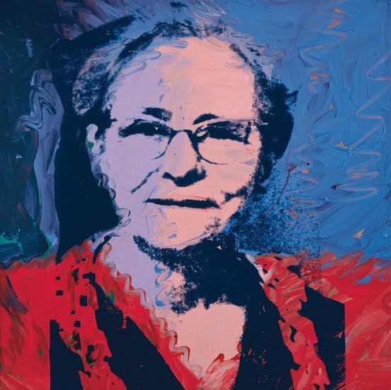 Andy Warhol, silkscreen of his mother, Julia Warhola, 1974