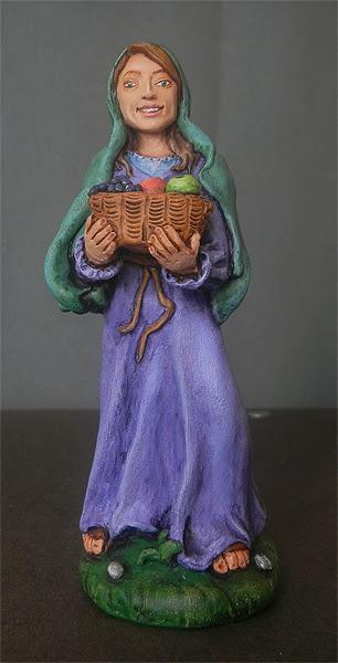 statuina presepe fatta a mano personalizzata collezione statuette orme magiche