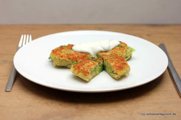 Brokkoli-Couscous-Bratlinge mit Joghurtdip [Essen für Kleinkinder]