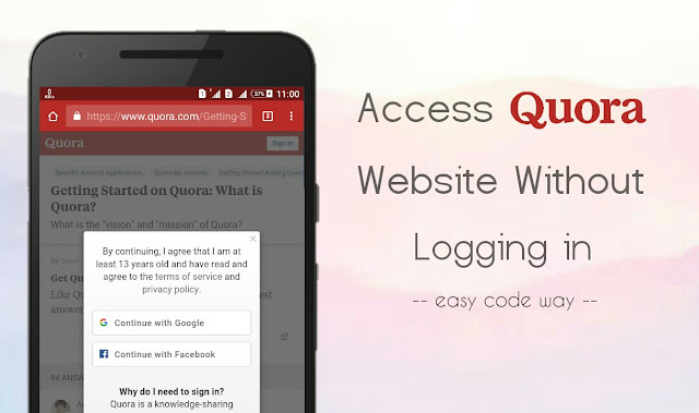 Read Quora answers without logging in
