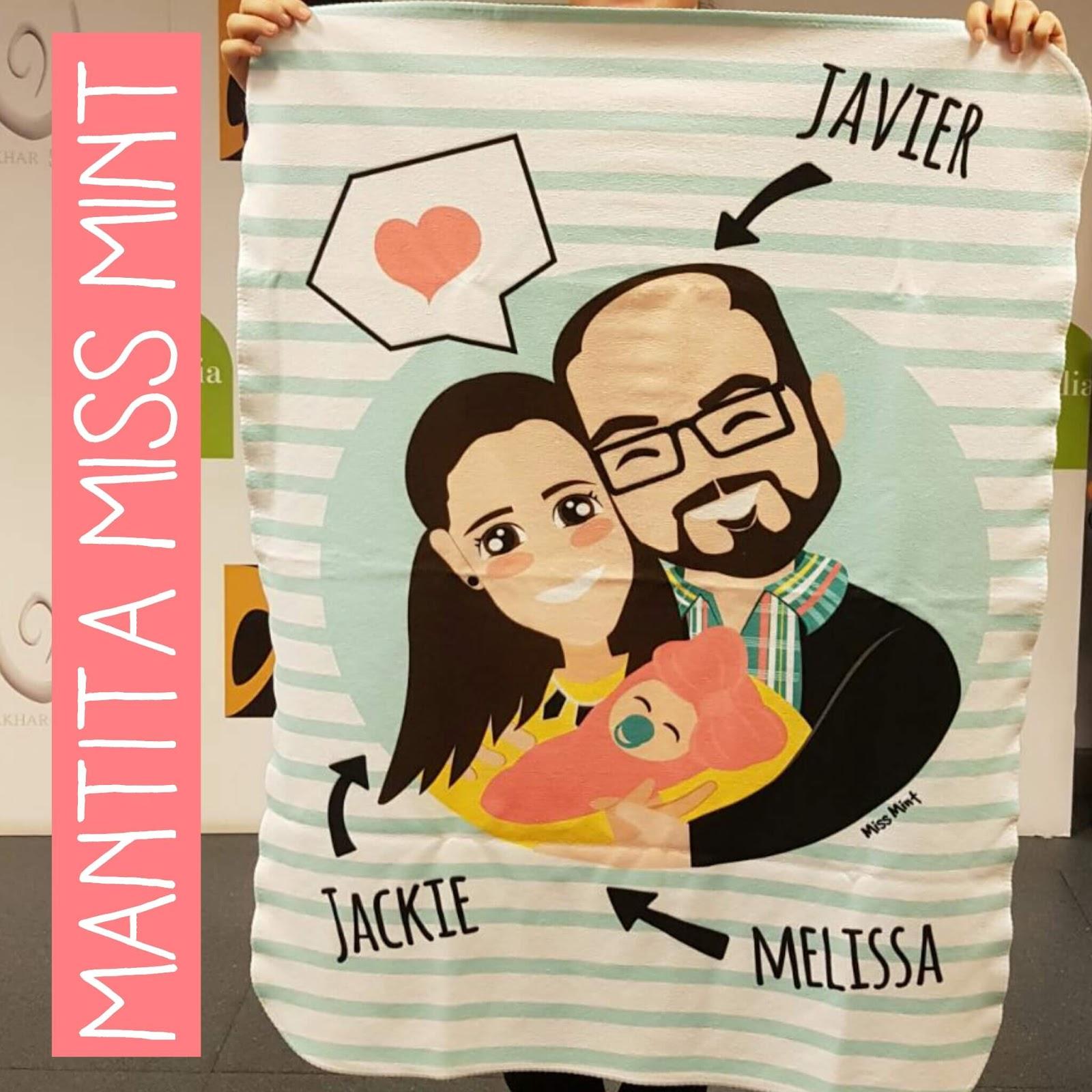 regalos personalizados mantitas de bebe miss mint