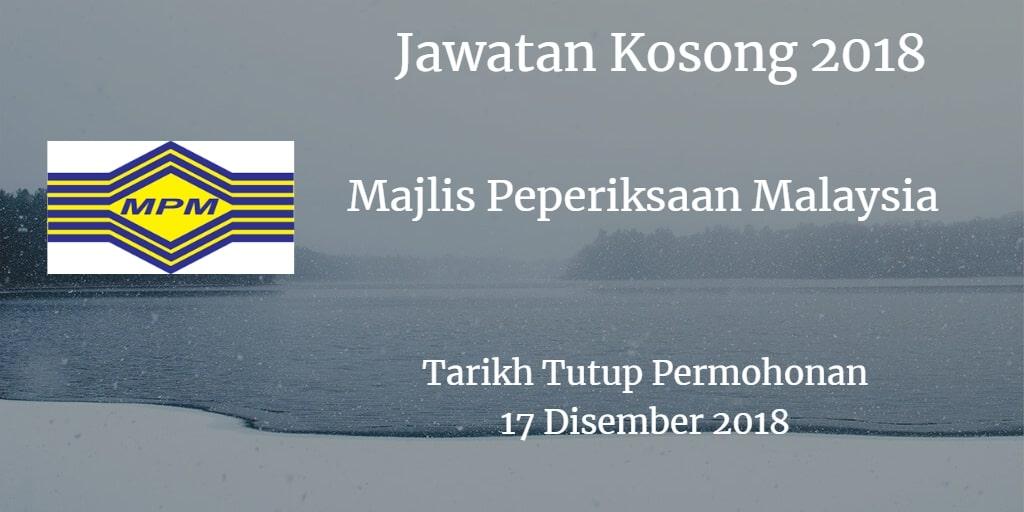 Jawatan Kosong MPM 17 Disember 2018