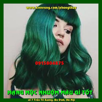 Những màu tóc nhuộm Xanh Lá Cây đẹp chất ngất cho cô nàng mạng Mộc