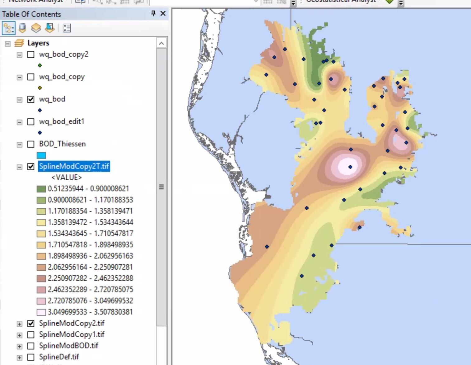 Melissa Thrush's UWF GIS Online Blog: GIS5935 - Lab 8 - Surface