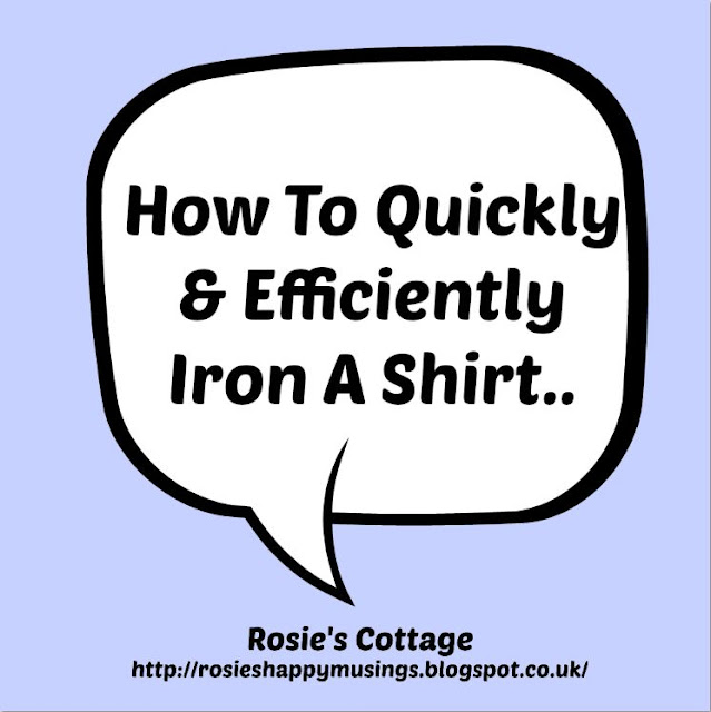 How to quickly & efficiently iron a shirt