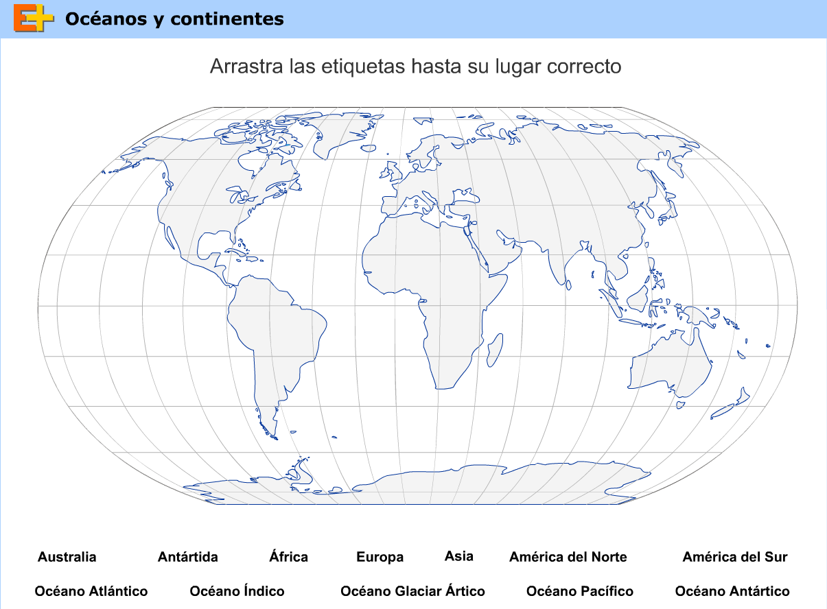 Mapa Para Jugar Dónde Está Continentes Y Océanos: Las TIC En Primaria: LOS PLANOS Y LOS MAPAS (V