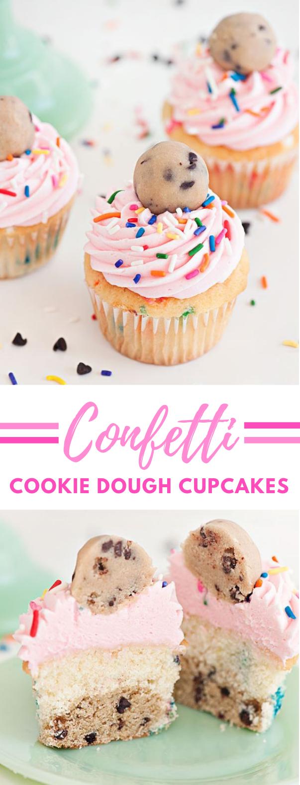 COOKIE DOUGH CUPCAKES #dessert #partydessert