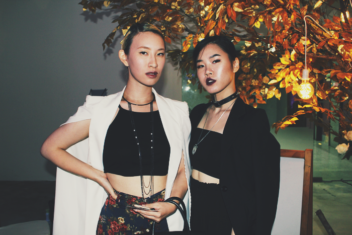 Brunei Blogger May Cho of The Mayden with Model Phoebe Cho at L'Orient's First Anniversary Runway