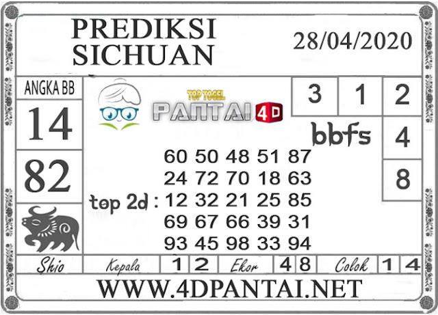 PREDIKSI TOGEL SICHUAN PANTAI4D 28 APRIL 2020