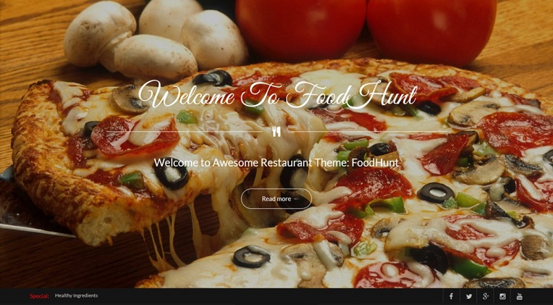 FoodHunt Restaurant WordPress Theme