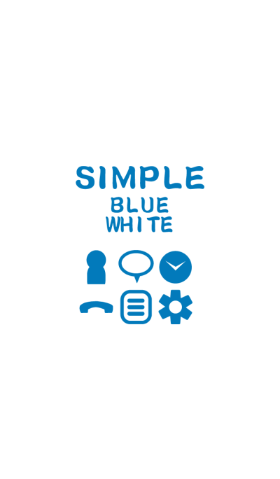 SIMPLE blue*white*