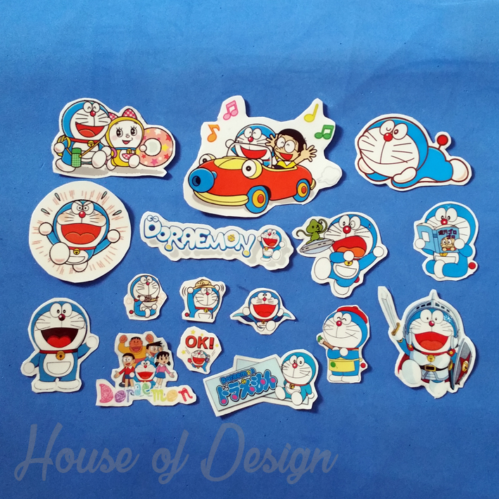 CUTTING STICKER TRANSPARAN CUSTOM, CUTTING STICKER DORAEMON, CUTTING STICKER NOBITA