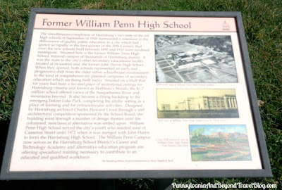 Former William Penn High School in Harrisburg Historical Marker