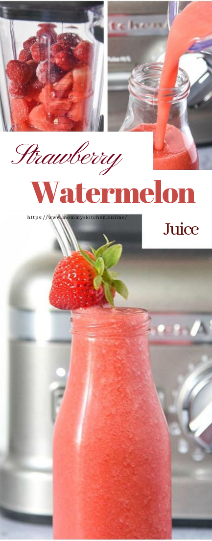 Strawberry Watermelon Juice Recipe #RawJuice #Smoothie