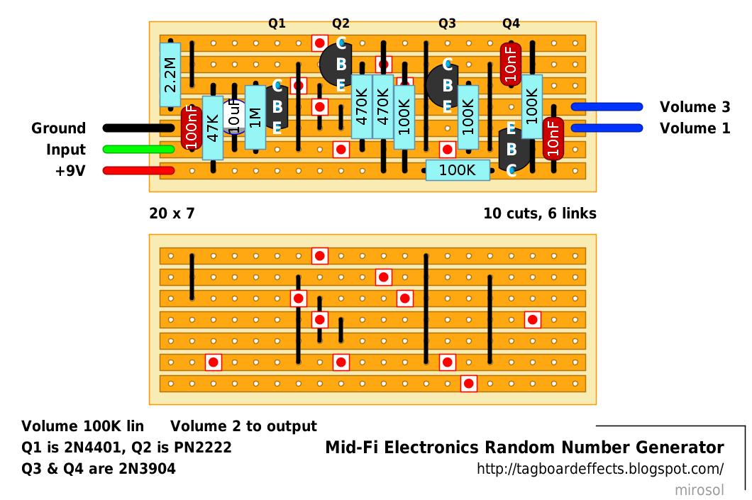 Guitar FX Layouts: Mid-Fi Electronics Random Number Generator