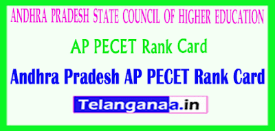 Andhra Pradesh PECET APPECET 2019 Rank Card Download