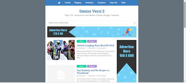 Simini V2 Responsive Blogger Template Download Free