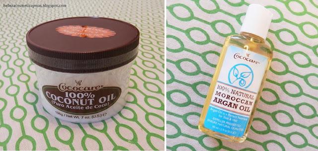 Aceite de coco cococare y aceite de argán cococare