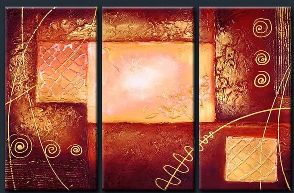 Cuadros modernos pinturas y dibujos cuadros tr pticos - Cuadros abstractos relieve ...
