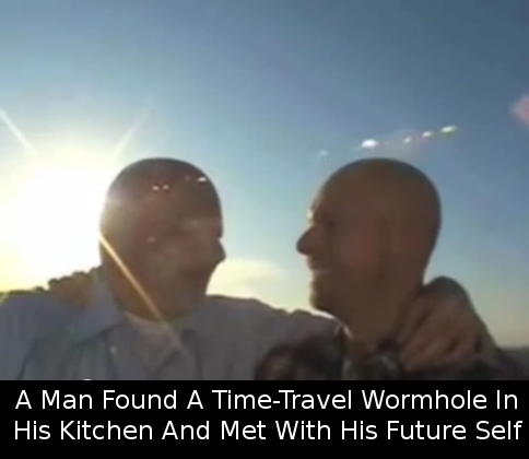 Time Traveler Gets To Visit Himself In The Future Caught On Camera