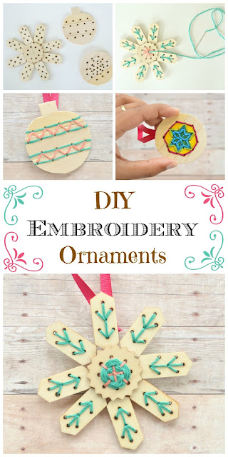 How to diy ornaments to put embroidery