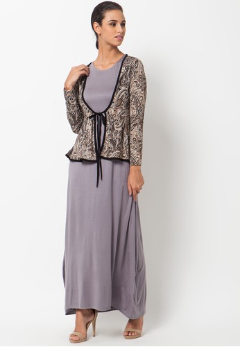 Model Long Dress Batik Modern Untuk Pesta Terbaru