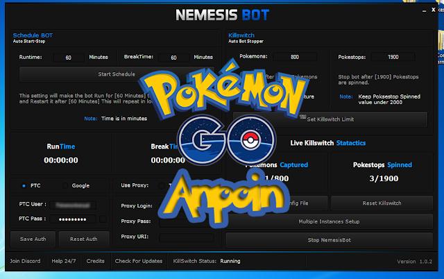Update Nemesis BOT v1.0.2, Cara Menggunakan Nemesis BOT v1.0.2, Cara Menggunakan BOT Nemesis Pokemon Go Terbaru v 1.0.2 work, Cara menggunakan nemesis pokemon go v1.0.2 work terbaru.