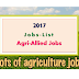 2017- Agriculture and Allied Jobs List