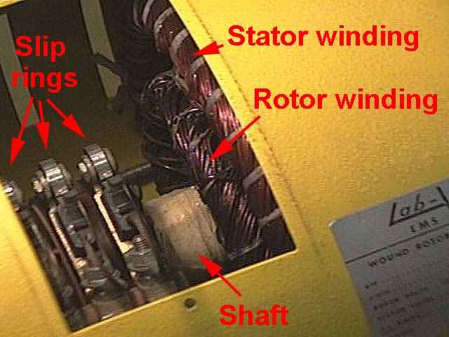 Three Phase Wound Rotor Induction Motor Slip Rings And Windings on 3 Phase Motor Windings