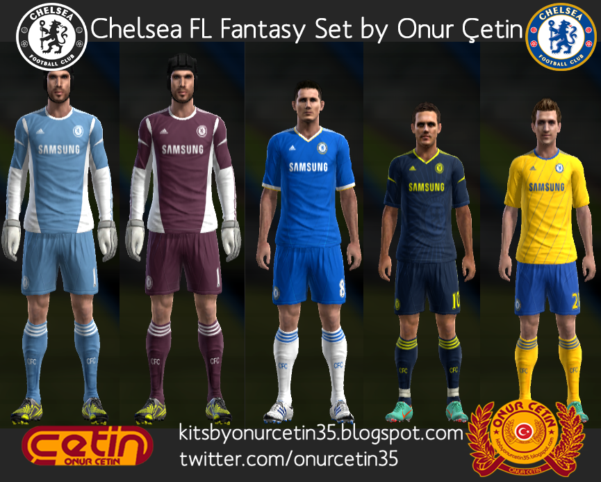 Chelsea FL Fantasy Set (with 12-13 Adidas Temp)