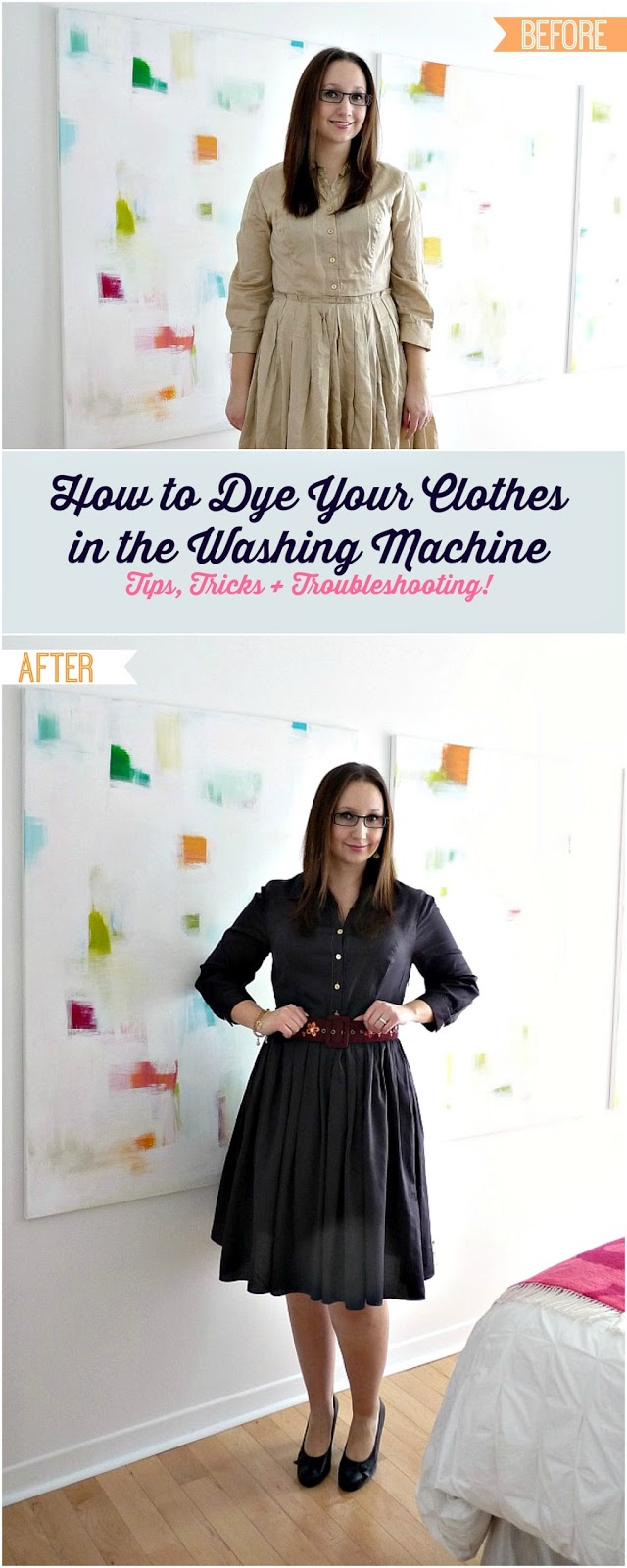 How to dye your clothes in the washine machine