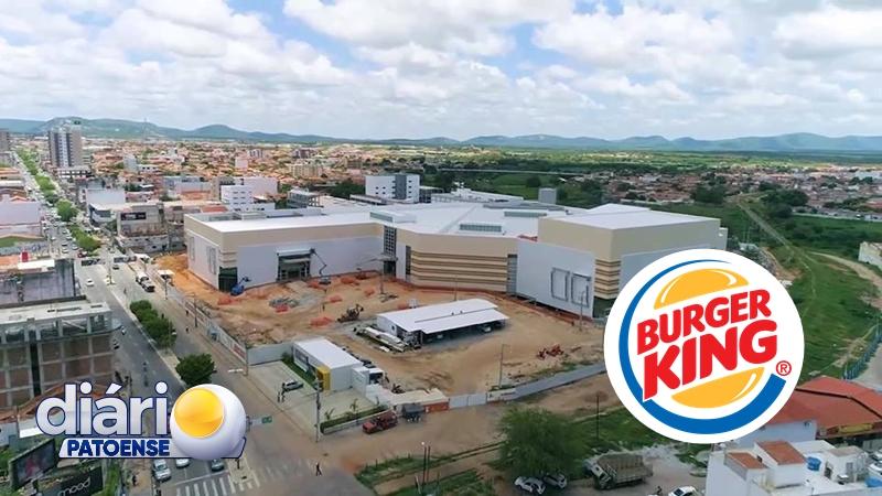 Burger King vai se instalar no Patos Shopping e está com vagas de emprego